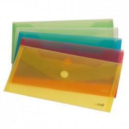 Sobre con cierre de Velcro.polipropileno  T. Recibo . Variedad colores.