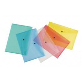 Pack 10 sobres broche polipropileno. A-4.