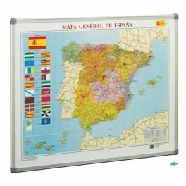 Mapa de España con marco de aluminio