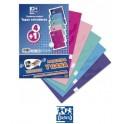 Pack de 5 Cuadernos Oxford Cuadriculados Tapa Extradura espiral  A4