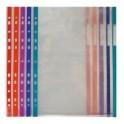 Fundas multitaladro T.Folio con borde de color