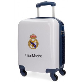 MALETA DE CABINA REAL MADRID KINGS OF EUROPE RÍGIDA AZUL MARINO 46CM