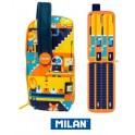 Estuche Milan Underground Blue Handly Multipencilcase 31 Piezas