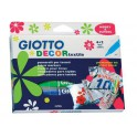 Rotuladores para tejido. Giotto decor 6 colores.