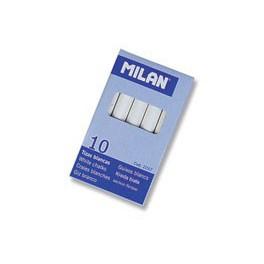 Tizas Milán blanca de 10 unidades