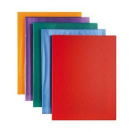 Carpetas flexibles con fundas. A-4. Colores. Económica Plus