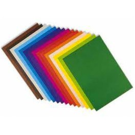 Cartulinas colores.A-4 Pack de 50 cartulinas