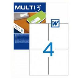 Etiquetas Multi 3   105X148MM