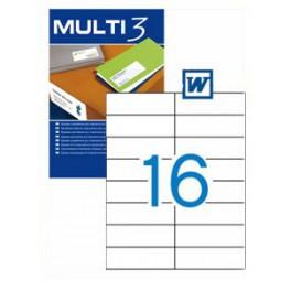 Etiquetas Multi 3   105X37MM