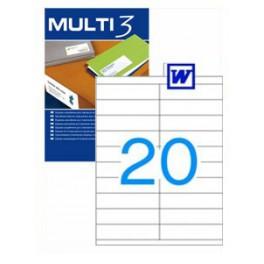Etiquetas Multi 3   105X29MM