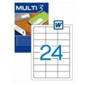 Etiquetas Multi 3  64,6X33,8MM Ref. 04701