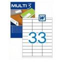 Etiquetas Multi 3  70X25,4MM Ref. 04702