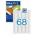 Etiquetas Multi 3  48,5X16,9MM Ref. 10490