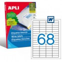 Etiquetas Apli  48,5X16,9MM Ref. 01282