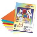 Papel A4 100 hojas. 80 gr. Campus 10 colores.