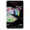 Caja Metalicacon 10 rotuladores para pintar mandalasColor collection by conte