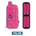 Estuche Milan Colours Pink Handly Multipencilcase 31 PiezasEstuche Milan Colours Pink Handly Multipencilcase 31 Piezas