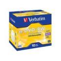 DvD+Rw x 4. Verbatim. 4.7 Gb. 120 min.. Caja de 10 unidades.