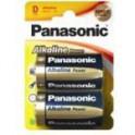Pilas Panasonic. Alcalina LR 20
